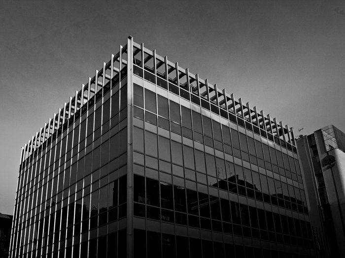Architecture Building Exterior Built Structure Low Angle View Architectural Detail Contemporary Architecture Minimalism Minimalist Architecture Architecture_bw Architectural Design Architectureporn Architecturelovers Minimalobsession City Architectural Feature Façade Government Sky No People