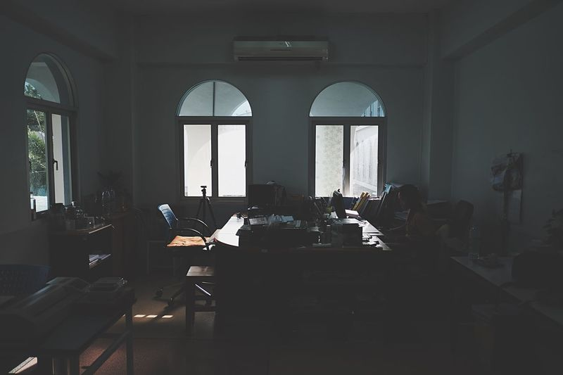 Seat Indoors  Window Architecture No People Chair Furniture Day Built Structure Table Absence Empty Sunlight Arrangement Business Office Building In A Row Nature