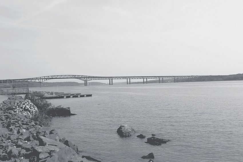 Nbny Newburgh Newburgh New York Newburgh Beacon Bridge Landscape Blackandwhite Monochrome Hudson River Upstateny Hudson Valley