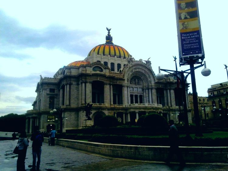 Architecture Dome Politics And Government Travel Destinations Built Structure Building Exterior Day Outdoors Sky People City Adults Only Adult Mexico Vacations Bellas Artes, México D.F. Architecture Mexico City Palacio De Bellas Artes.