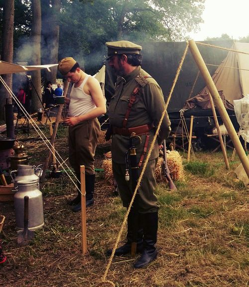 Historical Reconstitution Sully Sur Loire Tents Camp History Historic Russia People Urss