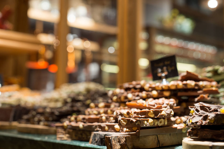 Chocolates Boutique Chocolate Chocolate♡ Dessert Desserts Gluttony Small Business Bokeh Close-up Eating Habits Focus On Foreground Food Food And Drink Freshness Handmade Healthy Eating Indoors  Large Group Of Objects Market Stall No People Ready-to-eat Sweet Sweet Food Variation
