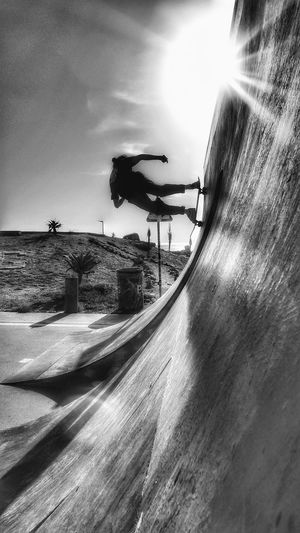 Sunlight Outdoors Sport Only Men One Person Skateboard Skatelife Photo Editing Edited My Way Skate Ramp Monochrome Skateboard Park Skateboarding Skate Life Radical Sport