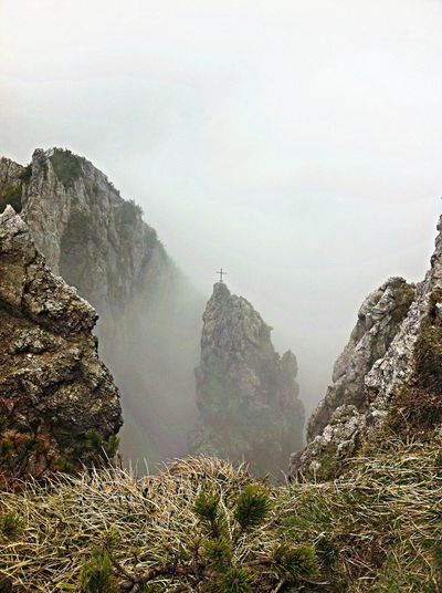 Mountains Foggy Nature Hiking
