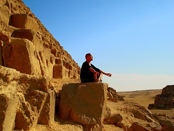 Zen Meditation Piramide Egypt That's Me Relaxing Enjoying Life Gizeh
