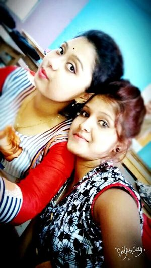 Me and my sweet best friend.. Two People Adult Portrait Togetherness Looking At Camera Females Girls Lifestyles Young Women Young Adult Friendship Close-up