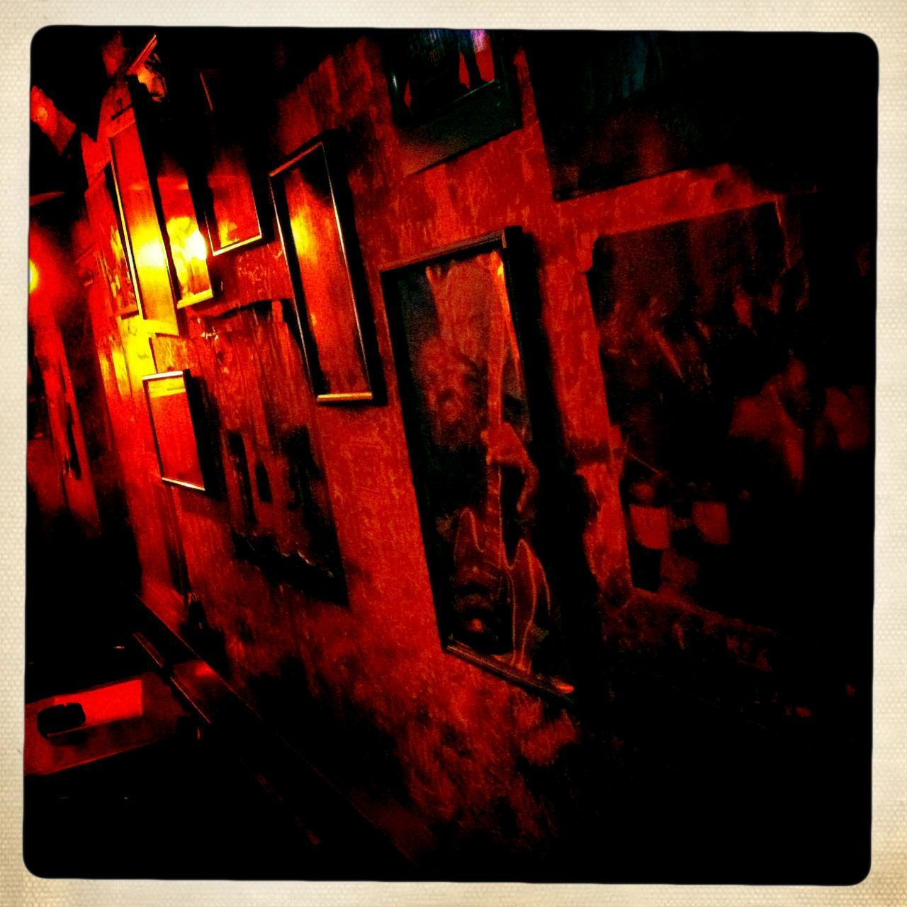 red, night, illuminated, no people, built structure, architecture, indoors, close-up, building exterior