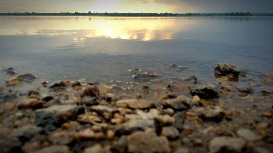 Unnichchai Batticaloa Batticaloa Sri Lanka Srilankan Water Water Reflections Sunset