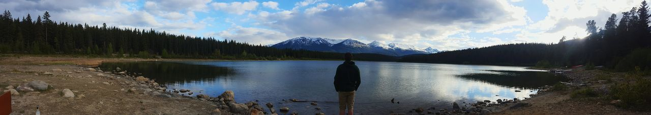 Canonphotography Panoramic Lake Mountains Model Love Thegreatoutdoors-2016eyeemawards The Great Outdoors With Adobe Hanging Out Hello World Reflection Canada Exploring Hiking Finding New Frontiers
