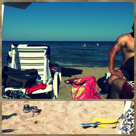 Hello summer :-) Picframe Cyprus Summer Summer sea blue sand
