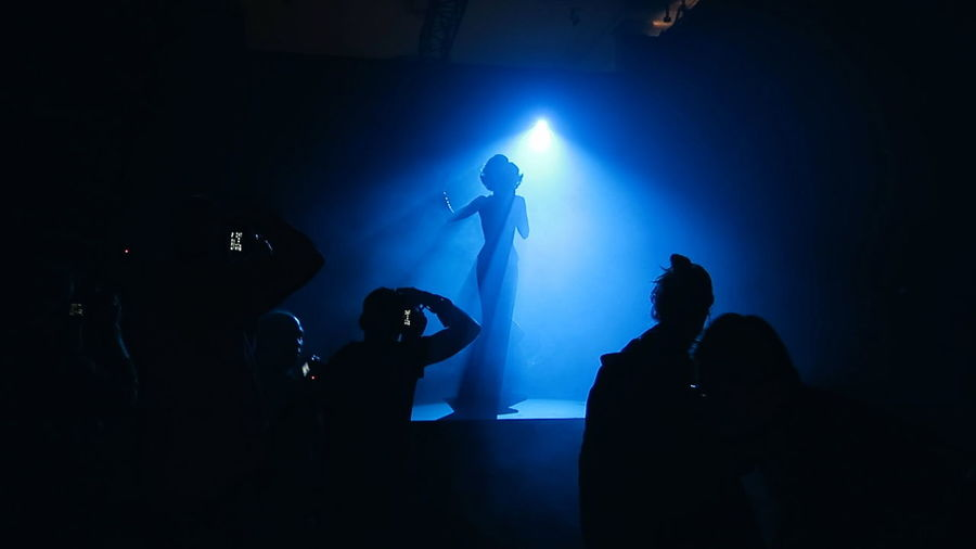 Will you still love me when I'm no longer young and beautiful...? Color Palette Silhouettes Blue Singer  Papparazzi Smokey Lounge Jazz Singer Eyeemphoto People And Places