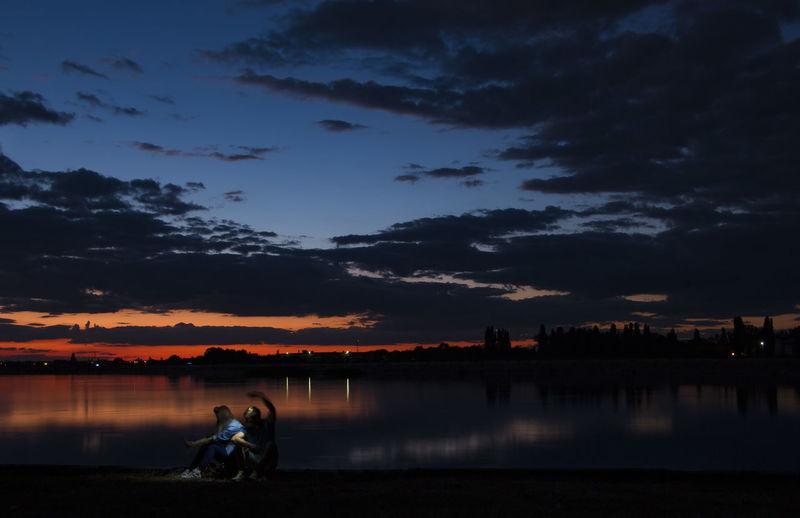 Romance on Morii Lake Island.. Beauty In Nature Calm Cloud - Sky Idyllic Lake Leisure Activity Love Outdoors Romance Scenics Sky Sunset Tranquil Scene Tranquility Water
