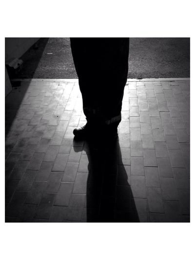 The shadow Taking Photos Hanging Out IPhone Shadows Feet legs Rui Militao Abstract Art Monochrome Black And White