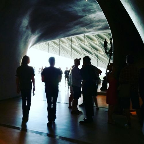 Exhibition Art Thebroad Museum Silhouettes People Watching