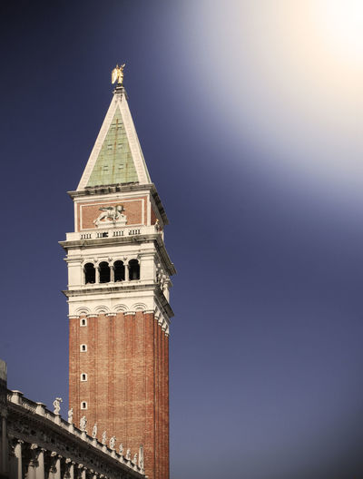 St. Mark's bell Tower in Venice, Italy Venice, Italy Venice Venezia Italy City Cityscape Travel Travel Destinations Landmarks Canal Grande Grand Canal St. Mark's Tower St. Marks Square Venice, Italy Bell Tower Tower Building Exterior Architecture Built Structure Sky No People Copy Space Clear Sky Building