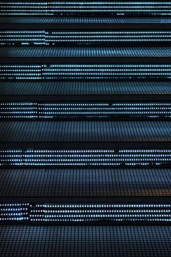 Full frame shot of illuminated steps