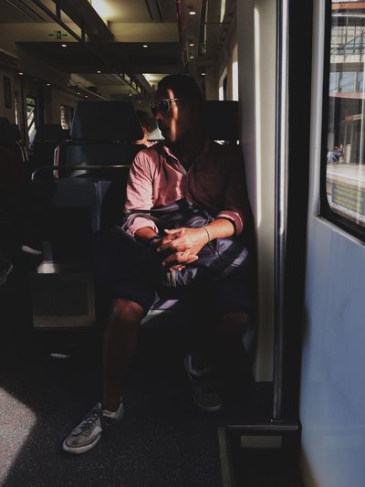 _ traveling portraits | IPhoneography Streetphotography Public Transportation Train Light And Shadow Commuting Notes From The Underground Street Photography Taking Photos Urban Lifestyle