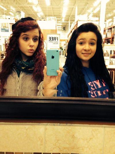 Mirror selfie! Beauty Color Portrait Best Friends Model