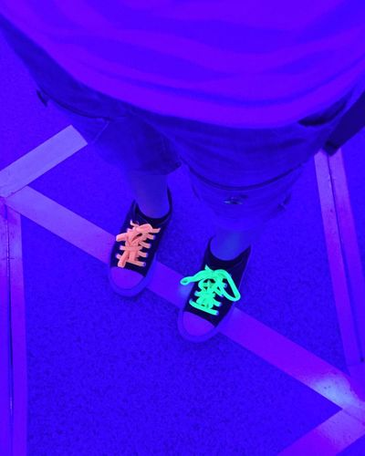 Neon Neon Cracow Poland Shoes Shoelaces Mirrorlabirynth Neon Life