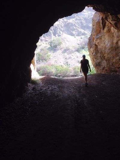 Cave exploring Silhouette Adventure Nature Tunnel Griffith Park