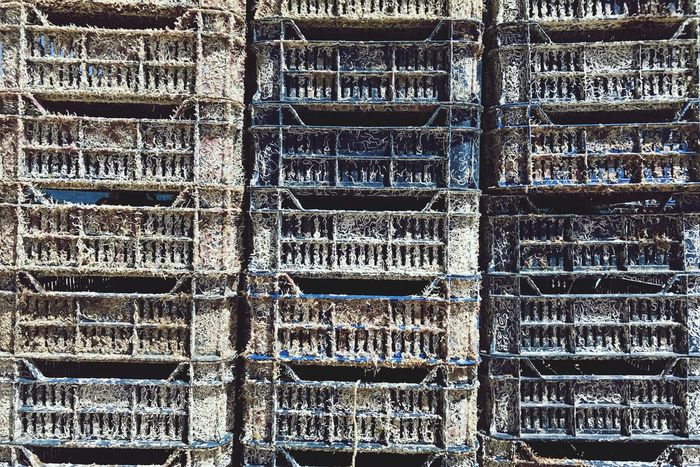 Oysters apartments. Full Frame Backgrounds Day Stack Textured  No People Outdoors Warehouse Industry Close-up Damirkovacic Food EyeEm Selects The Week On EyeEm