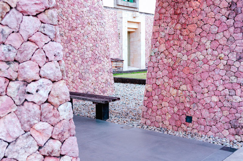 Close-up of pink color wall