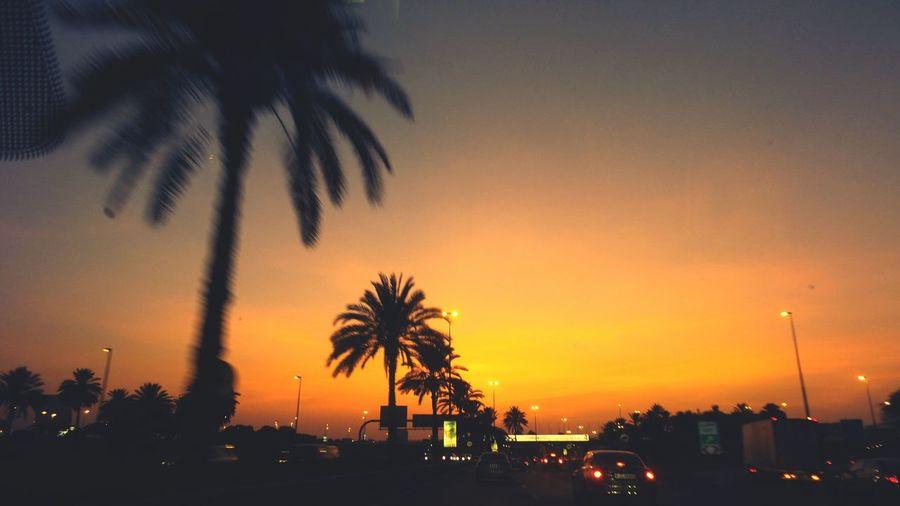 The Journey Is The Destination Dubai Road Orange Horizon
