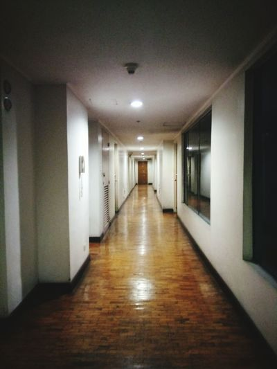 i went to the wrong floor Hallway Corridor Indoors  No People Walking Alone... Stoppedtheurgetoknockondoors