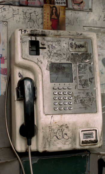 35mm Film Film Portra 400 Close-up Communication Connection Day Film Photography No People Old-fashioned Outdoors Pay Phone Technology Telecommunications Equipment Telephone Telephone Booth Telephone Receiver