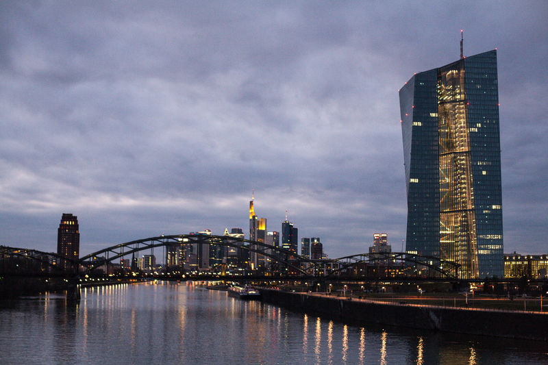 Dramatic Sky Skyline Skyline Frankfurt Architecture Bridge - Man Made Structure Building Exterior Built Structure City City Lights Cityscape Cloud - Sky Day Evening Sky Illuminated Modern No People Outdoors River Sky Skyscraper Sunset Tower Travel Destinations Urban Skyline Water Waterfront
