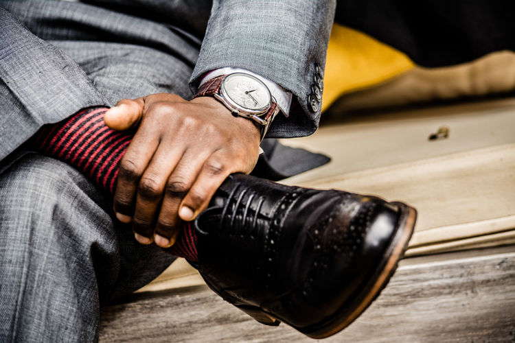 style is relative Watch Fashion Photography Fashion EyeEmBestPics Eye4photography  Human Hand Low Section Human Leg Shoe Personal Perspective Things That Go Together Shoelace Footwear Legs Crossed At Ankle A New Beginning