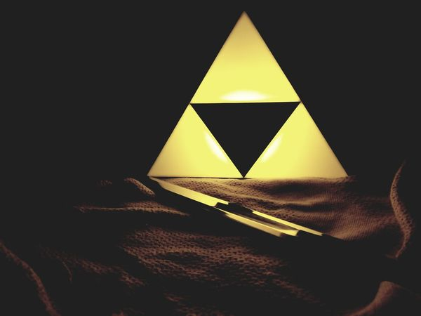 Yellow Zelda Triangle Shape No People Indoors  Close-up Day
