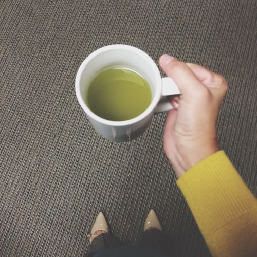 Green tea… because i feel a cold coming on. Feeling Sick