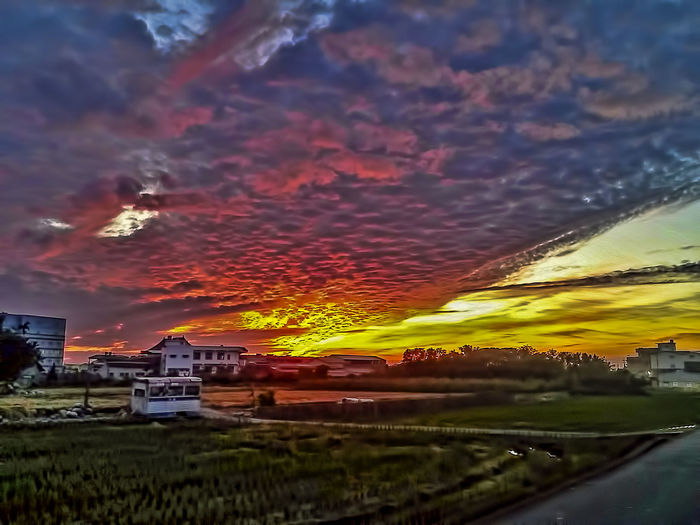 Agriculture Architecture Beauty In Nature Cloud - Sky Field Nature Night No People Outdoors Scenics Sky Sunset Travel Destinations