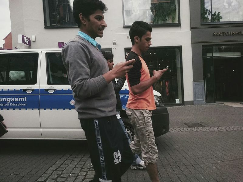 3 guys,3 Smartphones ... Watch your Step ! Streetphotography The Week On EyeEm Untold Stories People Walking  Smartphone in their Hands Getting Creative Capture The Moment The Changing City Youth Of Today