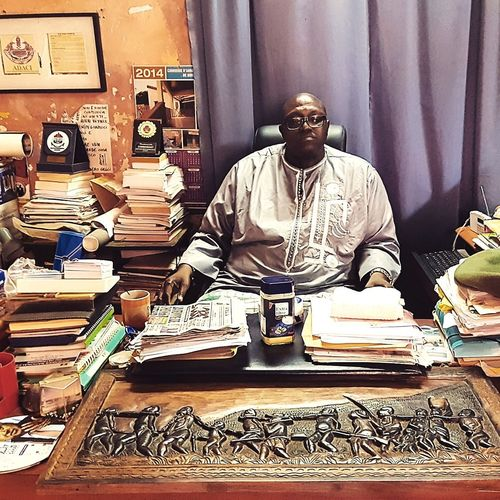 Guarding over the history of Senegal Chairman Presence Senegal Africa Dakar Senegal