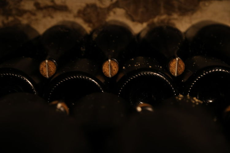 Champagne Cork Abundance Backgrounds Bottles Close-up Day Full Frame Indoors  Large Group Of Objects No People Selective Focus Stock Of Bottles