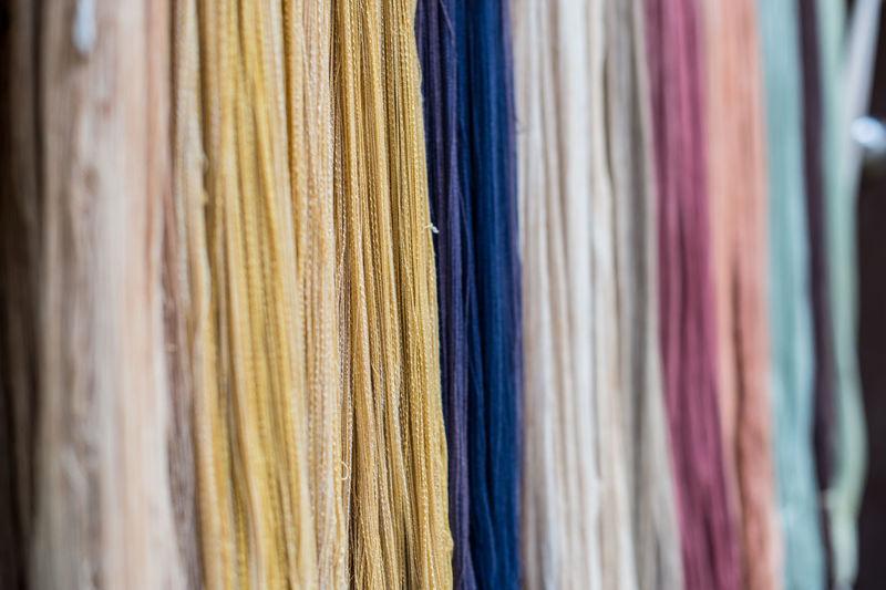 Full frame shot of multi colored curtain
