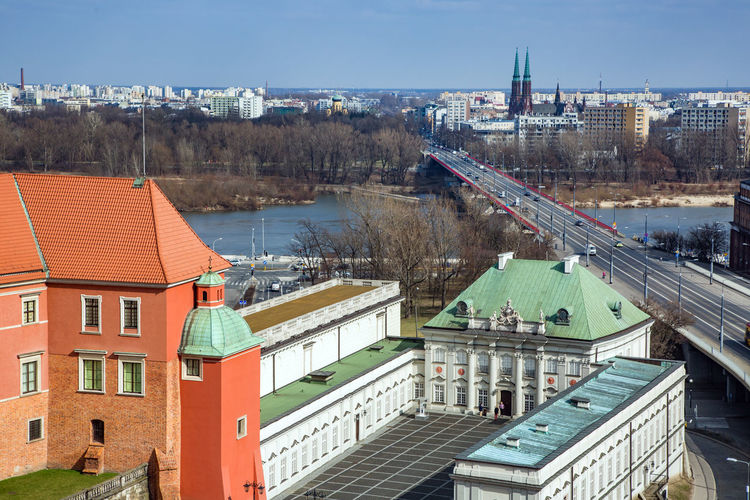 Old Town Vistula River Warsaw Warszawa  Architecture Building Exterior Built Structure City Cityscape Day High Angle View Nature No People Outdoors River Sky Water