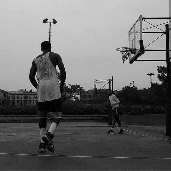 Sport Sportsman Lifestyles Outdoors Practicing Friendship People AndroidPhotography DOPE Street Built Structure Basketball Therapy Riverbank State Park Harlem, NYC Black & White Eyeemsports