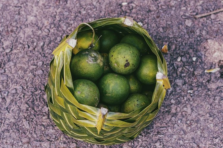 High angle view of fruit