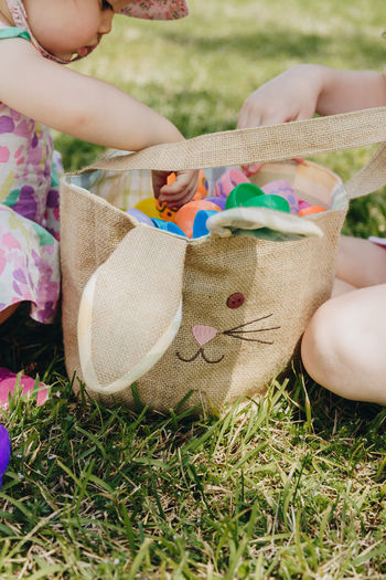 Easter eggs in basket April Authentic Moments Easter Easter Bunny Easter Egg Easter Ready Easter Sunday Easter Eggs Fun Kids Basket Bunny  Childhood Childhood Memories Color Day Egg Grass Human Hand Outdoors People Real Life Real People Real Photography Season