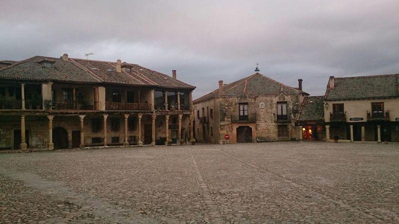 La Plaza de Pedraza en donde se todo el Anuncio de la Lotería De Navidad