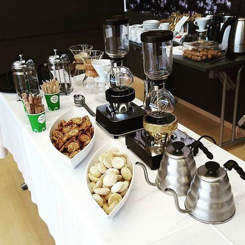 Let the brewing games begin. Brew Coffee Barista Baristalife Coffeeaddict Birthdaycelebrations Celebration Companycelebration Greencafe