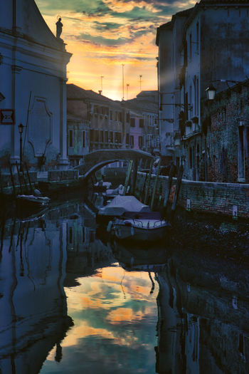Venetien mood Venezia Venice, Italy Architecture Building Exterior Built Structure City Day Gondola - Traditional Boat Mode Of Transport Moored Nature Nautical Vessel No People Outdoors Reflection Sky Sunset Transportation Travel Destinations Venice Water Waterfront