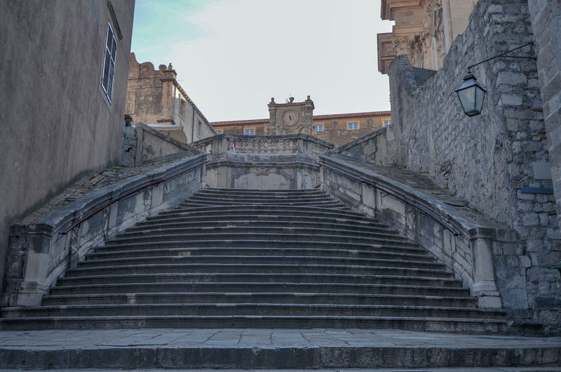 Walk of Shame stairs, Dubrovnik Game Of Thrones Architecture Cersei Dubrovnik Cersei Walk Of Shame CerseiLannister Dubrovnik Game Of Thrones Stairs History Low Angle View No People Outdoors Staircase Steps And Staircases Walk Of Shame Walk Of Shame Stairs