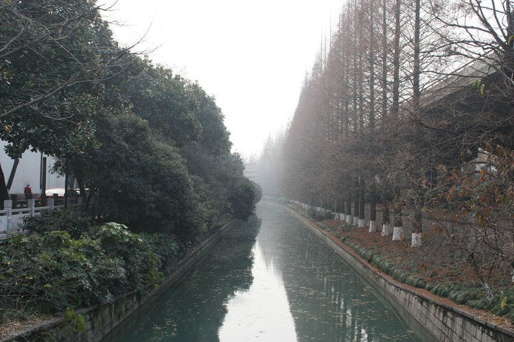 China Composition Connection Day Distant Flowing Fog Forest Hangzhou Landscape Leading Motion Mountain Narrow Non-urban Scene Outdoors Perspective River Scenics The Way Forward Tranquil Scene Tree Waterfall