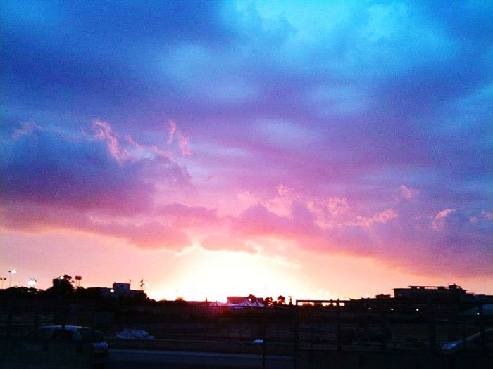 One of my very old pics~ City Tree Sunset Dramatic Sky Sky Cloud - Sky