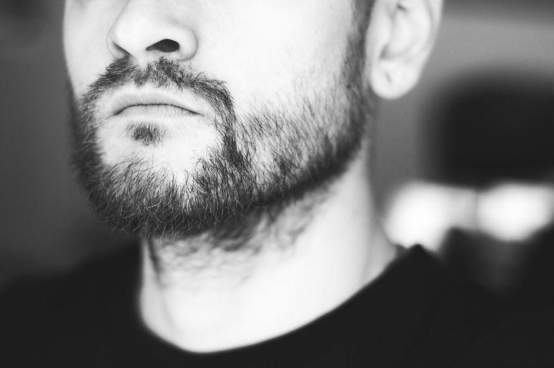 Portrait Blackandwhite Monochrome Photography Best EyeEm Shot Self Portrait Its Me Portrait Me Men Human Face Beard Mustache Close-up Selfie Self Portrait Photography