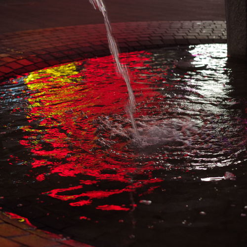 Water Red Pouring Motion Splashing Close-up No People Nature Indoors  Food And Drink Container Rippled High Angle View Drink Refreshment Waterfront Preparation  Ladle Multi Colored Flowing Water Flowing Running Water Mixing Purity